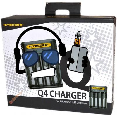 Зарядное устройство Nitecore Q4 черонго цвета (Blackberry) для Li-Ion / IMR аккумуляторов. Ток 2А.
