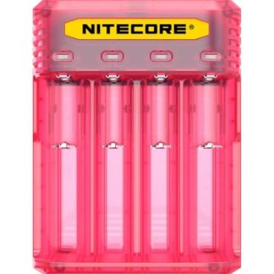 Зарядное устройство Nitecore Q4 розового цвета (Pinky Peach) для Li-Ion / IMR аккумуляторов. Ток 2А.