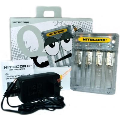 Зарядное устройство Nitecore Q4 белого цвета (Lemonade) для Li-Ion / IMR аккумуляторов. Ток 2А.