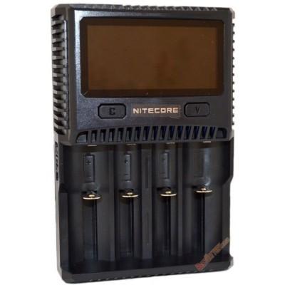 Зарядное устройство Nitecore SC4 с дисплеем для Li-Ion, IMR, LiFePO4, Ni-Mh и Ni-Cd аккумуляторов.