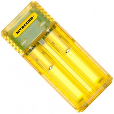 Зарядное устройство Nitecore Q2 желтого цвета (Juicy Mango) для Li-Ion / IMR аккумуляторов. Ток 2А.