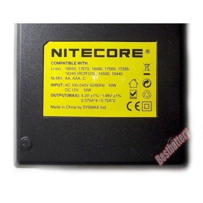 Nitecore Intellicharger i4 v2 - универсальное зарядное устройство для Li-Ion, Ni-Cd и Ni-Mh аккумуляторов + Автоадаптер.