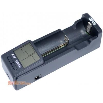Зарядное устройство Opus BT C100 для Ni-Cd, Ni-Mh, Li-Ion и LiFePO4 аккумуляторов с Power Bank + блок питания. Ток 2А.