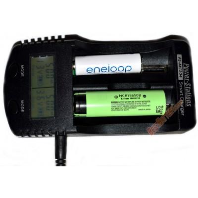 Зарядное устройство Power Stations PS-MC204 для Ni-Mh, Ni-Cd и Li-ion аккумуляторов с функцией Power Bank.
