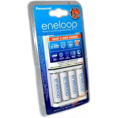 Зарядное устройство Panasonic Eneloop BQ-CC55E Quickcharger и 4 АА аккумулятора Panasonic Eneloop 2000 BK 3MCCE.