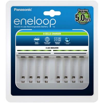 Зарядное устройство Panasonic Eneloop BQ-CC63 на 8 каналов для АА и ААА аккумуляторов.