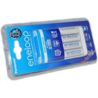Зарядное устройство Panasonic BQ-CC18 Basic charger и 4 АА аккумулятора Panasonic Eneloop BK 3MCCE.