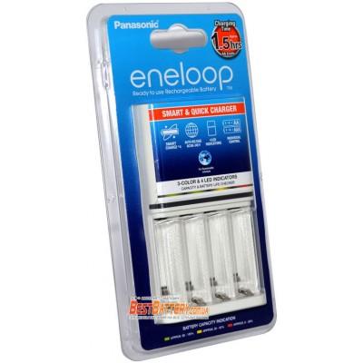 Panasonic Eneloop BQ-CC55E Quickcharger Colour LED - Быстрое зарядное устройство для АА и ААА на 4 канала.