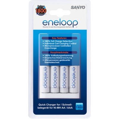 Быстрое зарядное устройство Sanyo Eneloop MQR06 + 4 Sanyo Eneloop 2000 HR-3UTGB.