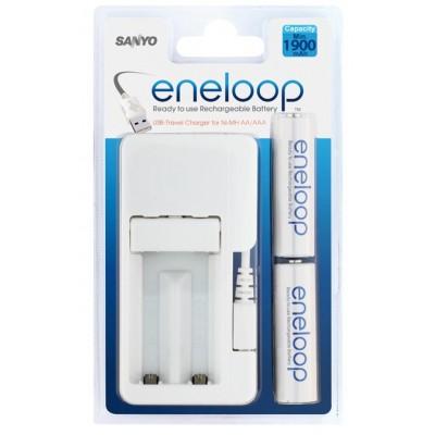Зарядное устройство от USB Sanyo MDU01 + 2 аккумулятора Sanyo Eneloop 2000 mAh.