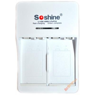 Soshine SC-V1(V1-Fe, V1-Ni) - универсальное зарядное устройство для аккумуляторов Крона различных типов.