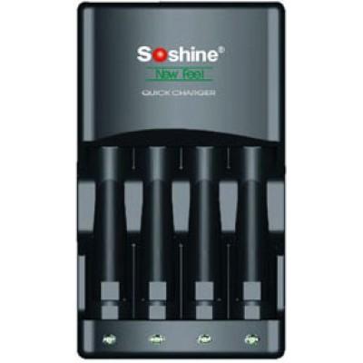 Зарядное устройство Soshine SC-U1 и 4 пальчиковых аккумулятора Panasonic Eneloop 2000 mAh (BK 3MCCE) в боксе.