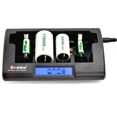 Универсальное быстрое зарядное устройство для всех размеров Ni-Mh и Ni-Cd аккумуляторов Soshine CD1.