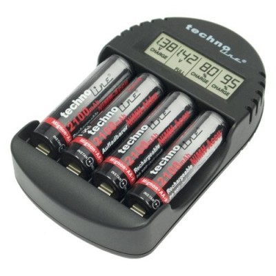 Зарядное устройство Technoline BC-250 + 4 АА аккумулятора 2100 mAh.