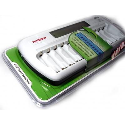 Зарядное устройство Tenergy TN 160 - 12 независимых каналов для АА и ААА аккумуляторов, автоматическое с разрядом.