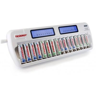 Зарядное устройство на 16 каналов Tenergy TN438. Может одновременно заряжать 16 аккумуляторов.