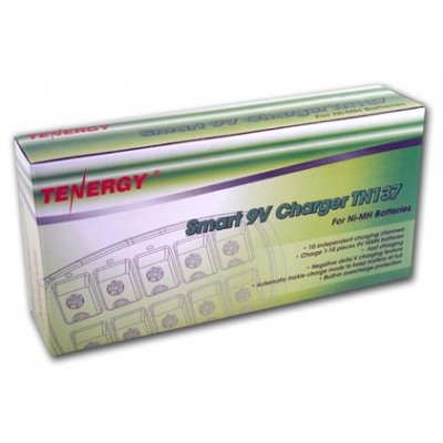 Tenergy TN137 - зарядное устройство для аккумуляторов Крона на 10 каналов.