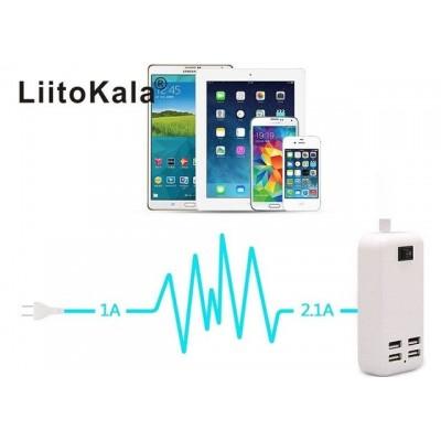Блок питания LiitoKala Lii-U4 на 4 USB выхода (3000 mA, 5V, 15W).