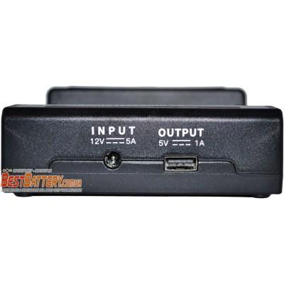 Быстрое зарядное устройство Vapcell S4 Plus на 4 Ni-Mh, Ni-Cd и Li-ion аккумулятора. Ток заряда 3А на канал. Power Bank + Автоадаптер.