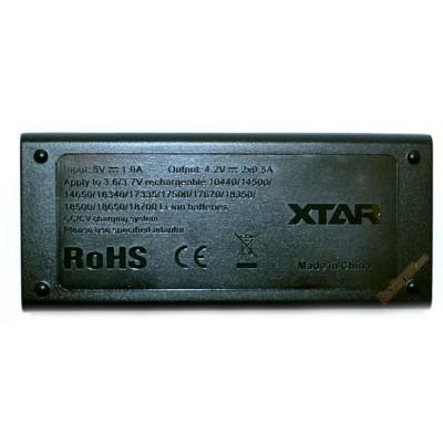 Зарядное устройство XTar MC2 для Li-ion аккумуляторов. Питание от USB, 2 независимых канала.