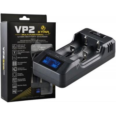 Зарядное устройство XTar VP2 для Li-ion и LiFePo4 аккумуляторов + PowerBank.