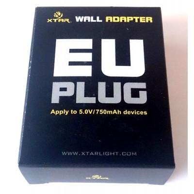 Сетевой адаптер X-Tar USB для зарядных устройств X-Tar, Nitecore и др. Выход 5V 750 mA.