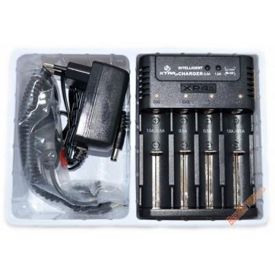 Универсальное зарядное устройство XTar XP4c для Li-ion IMR, Ni-Cd и Ni-Mh аккумуляторов. Автоадаптер в комплекте.