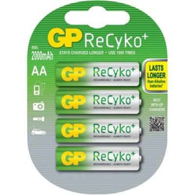 GP ReCyko 2000 mAh - пальчиковые аккумуляторы с низким саморазрядом от GP, упакованные в блистер. Цена за уп. 4 шт.