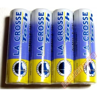 La-Crosse на 2600 mAh (АА) - фирменные пальчиковые аккумуляторы.