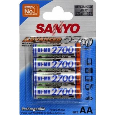 Sanyo 2700 mAh (HR-3U) - самые ёмкие аккумуляторы от японского производителя Sanyo.
