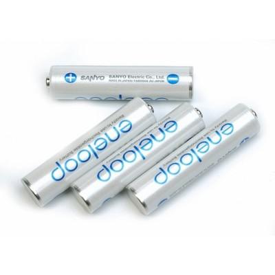 Sanyo Eneloop 800 mAh (HR-4UTGB) минипальчиковые аккумуляторы Sanyo, упакованные в пластиковый бoкс. Цена за уп. 4 шт.