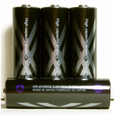 Sanyo Eneloop XX 2550 mAh (HR-3UWXВ) - аккумуляторы от Sanyo высокой ёмкости, упакованные в бокс. Цена за уп. 4 шт.