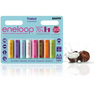 Sanyo Eneloop Tones Tropical (Limited edition) 8 шт. в оригинальном блистере.