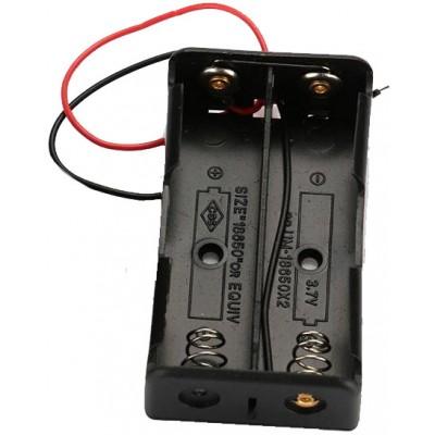 Держатель (холдер) с контактами на 2 аккумулятора 18650 с параллельным соединением (3.7V).