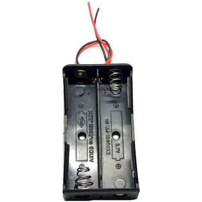Держатель (холдер) с контактами на 2 аккумулятора 18650 с последовательным соединением (7.4V).