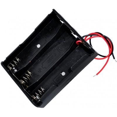 Держатель (холдер) с контактами на 3 аккумулятора 18650 с параллельным соединением (3.7V).