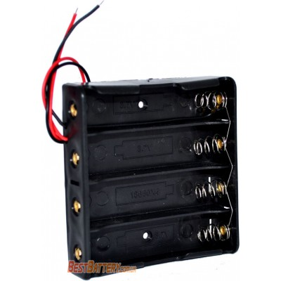 Держатель (холдер) с контактами на 4 аккумулятора 18650 с параллельным соединением (3.7V).