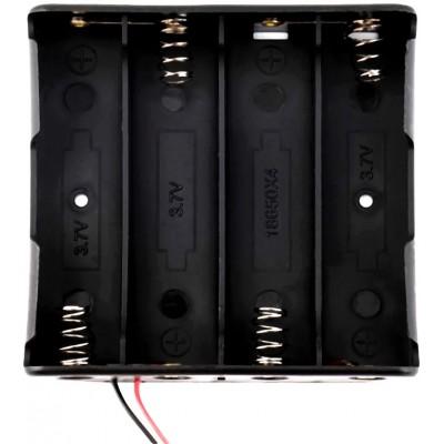 Держатель (холдер) с контактами на 4 аккумулятора 18650 с последовательным соединением (14.8V).