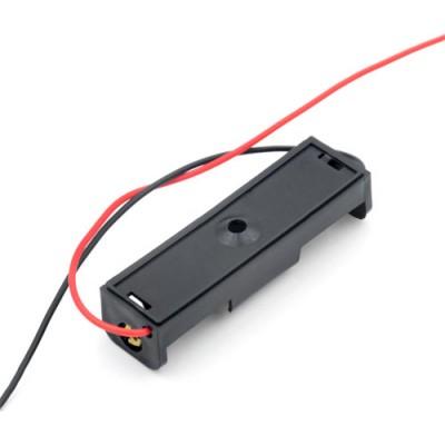 Держатель (холдер) с контактами на 1 аккумулятор / батарейку AA (1.5V).
