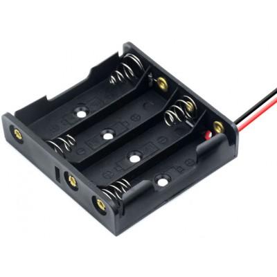 Держатель (холдер) с контактами на 4 аккумулятора / 4 батарейки AA с последовательным соединением (6.0V).