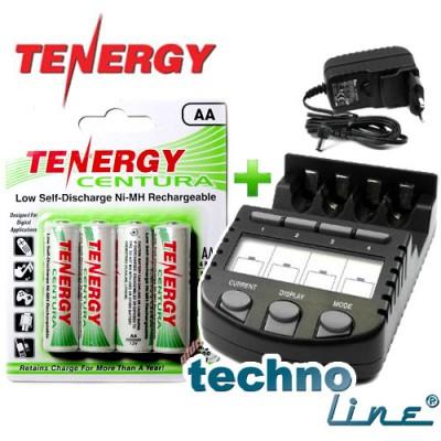 Зарядное устройство Technoline BC-700 + 4 Tenergy Centura LSD 2000 mAh (AA) + Бокс.