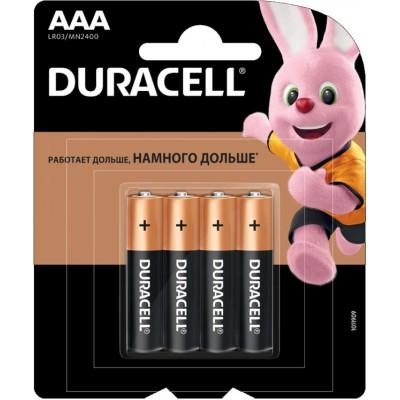 Минипальчиковые щелочные батарейки Duracell Alkaline AAA, 1.5В. MN2400. Цена за уп. 4 шт.