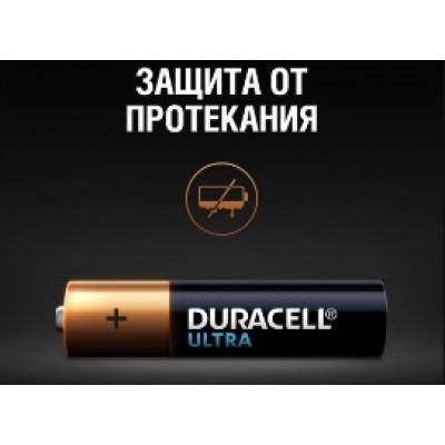 Минипальчиковые щелочные батарейки Duracell Ultra Alkaline AAA, 1.5В с индикатором (MX2400). Цена за уп. 4 шт.