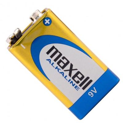 Щелочная батарейка Крона 9V Maxell Alkaline 6F22 в блистере. Цена за 1 шт.