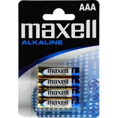 Минипальчиковые батарейки Maxell Alkaline AAA (LR03) 1.5В в блистере. Цена за уп. 4 шт.