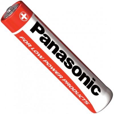 Минипальчиковые солевые батарейки Panasonic Red Zinc Carbon ААA / LR03 (R03RZ/4BP), 1.5В. 4 шт. в блистере. Цена за уп. 4 шт.