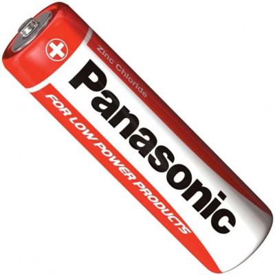 Пальчиковые солевые батарейки Panasonic Red Zinc Carbon АА / LR6 (R6RZ/4BP), 1.5В. 4 шт. в блистере. Цена за уп. 4 шт.