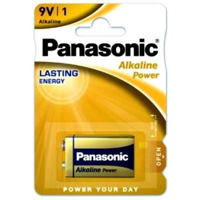 Щелочная батарейка Крона 9V Panasonic Alkaline Power 6F22 в блистере. Цена за 1 шт.