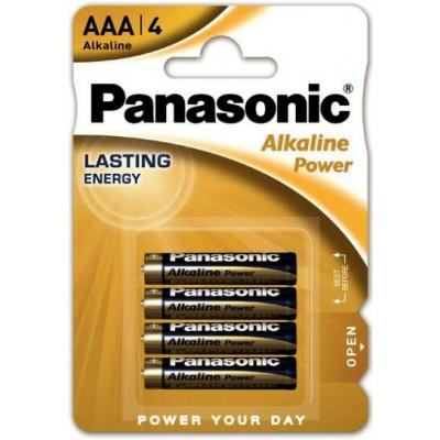 Минипальчиковые щелочные батарейки Panasonic Alkaline Power AАА (LR03), 1.5V. 4 шт. в блистере. Цена за уп. 4 шт.
