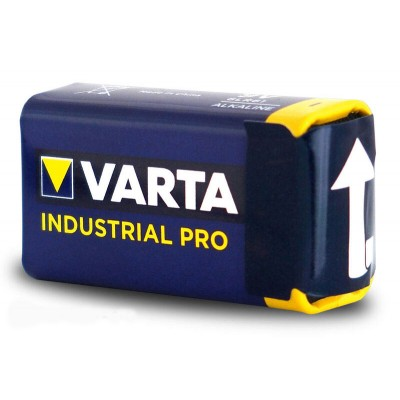 Щелочная батарейка Крона 9V Varta Industrial Pro 6F22. Цена за 1 шт.